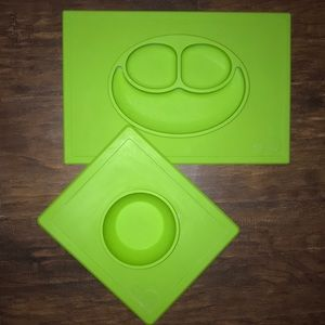 🔷👶🔷 EZPZ Happy Mat & Bowl Set • 💯% Silicone!